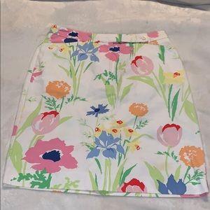 🌸🌼 VTG Liz Claiborne flora skirt 8P 🌸🌼